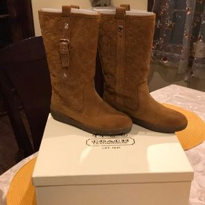 Coach suede tulip boot